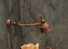 Industrial Style Wall Lamp Light Tubu Rust, Extendable by Nkuku