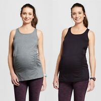 c9 Champion Maternity Performance Long Tank Top Black OR Gray size XSmall