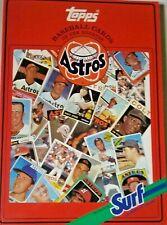 Topps Baseball Card Book - Houston Astros Surf Detergent Mlb 1987 Chewing Gum