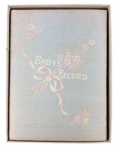 Vintage 1939 Baby's Own Story Life Events Record Book Ruth Caroline Eger