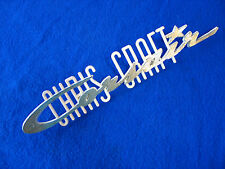 Chris Craft CORSAIR NAMEPLATE - NOS Wood Boat Chrome Plated Metal Emblem