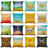 18'' Fashion Summer Beach Pillow Case Cotton Linen Cushion Cover Home Decor