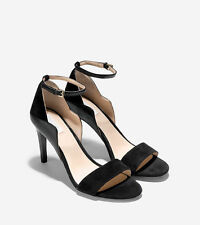 NIB Cole Haan Women's Grace Grand Leather/Suede Sandal in Black W06286
