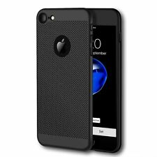Iphone 7 (Batería refrigeración) de malla transpirable Negro Anti-rayadura Cubierta Protectora