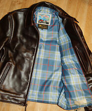 Aero Highwayman sz 38 (fits like 42) Cordovan CXL Steerhide Leather Jacket