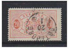 Suède - 1874/98, 20 ore saumon officiel (PERF 14) - g / U-SG O35