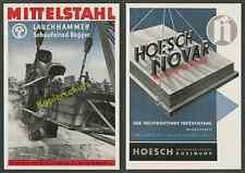 Mitteldeutsche Stahlwerke AG Lauchhammer Tagebau Schaufelradbagger Riesa 1939!!