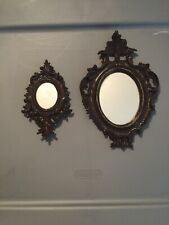 Ornate Vintage Italy Rococo Room Dollhouse Mirror Lot of 2