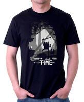 Scary Limbo Time Finn Jake black  printed cotton t-shirt 09875