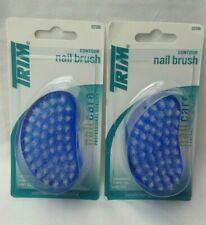 LOT OF 2-New in package TRIM contour nail brush. Blue. Ergonomic for Easy Use
