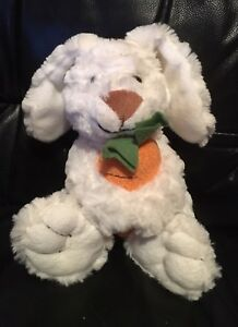 White Rabbit - Holding Carrot - Soft Toy - Good Condition