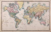 Map Of world  photo Framed Poster Canvas art painting  Print Vintage Australia