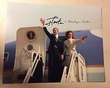 President Jimmy & Rosalynn Carter Signed 8 X 10 Photo Autographed