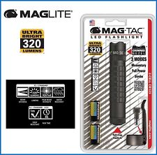 Maglite Mag-Tac Led Torch Flashlight 320 Lumens Black SG2LRA6L Crowned Bezel