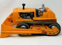 Vintage Marx A-Power Giant Bulldozer Orange w Figure