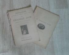 LEBLANC Maurice. Arsène Lupin. Le triangle d'or. Lafitte. 1921. 2 vol.