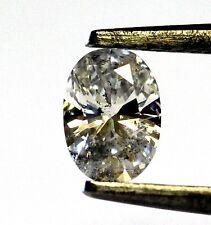 Clarity Enhanced oval loose diamond .47ct SI3 H 4.39x6.13x2.62mm vintage estate