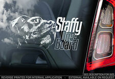 Staffy - Dog Car Sticker - Staffordshire Bull Terrier Staffie on Board - TYP5