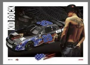 Rare KEVIN HARVICK and KID ROCK Lowe's 2004 NASCAR Chevrolet Poster