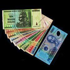 1 Million to 10 Trillion Zimbabwe Dollars 2008 Set+ 20,000 Vietnam Dong Banknote
