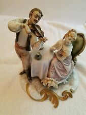 Genuine BORSATO Figurine of. Man Playing a Violin to a Lady