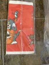 Vintage 1986 Tom & Jerry Birthday Party Tablecover New In Package 54� X 96�
