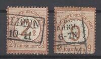 Dt. Reich Mi.Nr. 29-30, Freimarken 1874 gestempelt (24214)