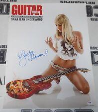 Sara Jean Underwood Signed 18x24 Guitar World Magazine Poster PSA/DNA Playboy 07