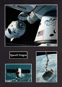 SPACEX Dragon 1 16 x 12 Photo Montage Display A, ISS Space EXPLORATION Falcon 9