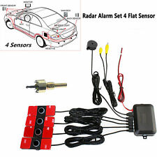 Visible Car Video Parking Reverse Backup Assistant Radar Alarm Set 4 Flat Sensor