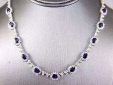 Tennis Sapphire Fine Necklaces & Pendants