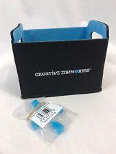 Creative Memories Scrap Booking Felt Storage & Organizer Craft Bin, 4 Clips