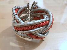 Bracciale rigido corda e metallo rope and metal cuff bracelet