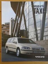 Volvo V70 Taxi brochure 2000 + price list German text