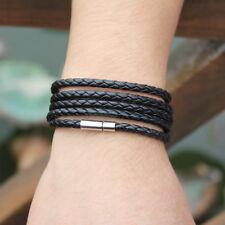 5 Laps Leather Bracelet Retro Men Handsome Bracelet Hand Chain