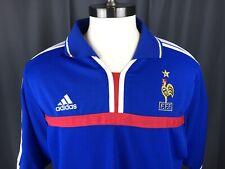 Adidas Soccer Jersey FFF Blue Mens Sz XL