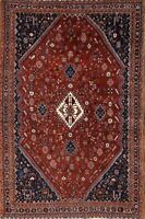 Antique Tribal Vegetable Dye Geometric Handmade 5'x7' Kashkoli Oriental Area Rug