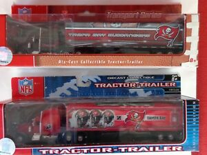 Vintage NFL Tampa Bay Buccaneers  2- Semi Trucks 2006 and 2007 New in Box NOS