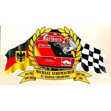 M. SCHUMACHER WORLD Champion F1 Sticker