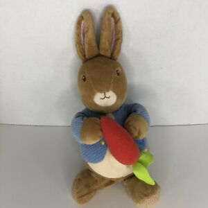"Plush Beatrix Potter Plush MUSICAL PETER RABBIT Wind Up Turn Key 13"" B11"