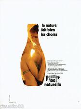 PUBLICITE ADVERTISING 115  1971  PERRIER eau minérale par DEWOLF