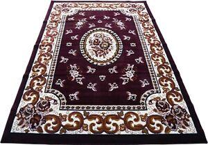 "6x8 Area Rug Floral Carpet Burgundy Black Red Green Home Décor (5'2 x 7'2"")"