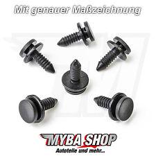 15x VerkleidungsClips BefestigungsClip Audi A3 VW Golf Schwarz Klips 3B0867333