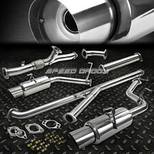 "DUAL 4""MUFFLER RACING DOWNPIPE+TURBOBACK CATBACK EXHAUST 91-99 3000GT VR-4 GTO"