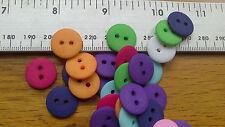 Job Lot Wholesale 50 Round Resin Buttons 18mm Matt Multi Colours 1