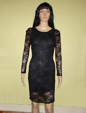 Spiral Black Lace Dress V Back size Large  Prom  Pastel Goth  Alternative