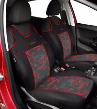 Front seat covers fit Nissan Micra - VEST SHAPE red verlour