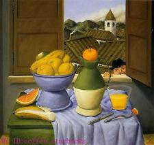 "Art Repro oil painting:""Fernando Botero Portrait at canvas"" 30x30 Inch #041"