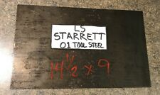 "Starrett 9""x14.5"" Billet Blank 01 Tool Steel Knife Making HIGH CARBON Flat Stock"