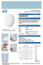 Bemis 1200Slowt-024 Elongated Plastic Slow Close Toilet Seat - Twilight Blue